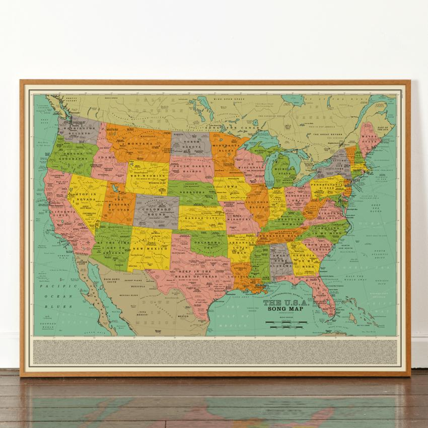 U.S.A. Song map – Marion Brasch
